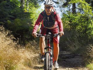 001034 AN Mountainbiker im Zittauer Gebirge