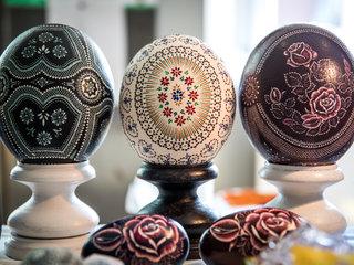 Kunstwerke sorbische Ostereier