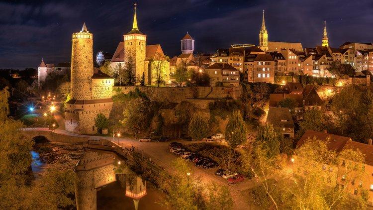 Bautzen Altstadt bei Nacht Peter Wilhelm