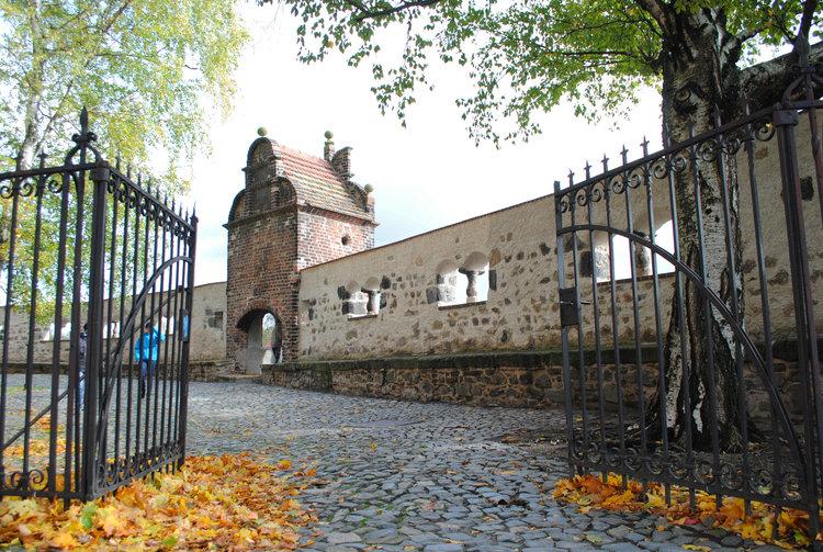 Goerlitz Stadtmauer an der Peterskirche Herbst EGZ