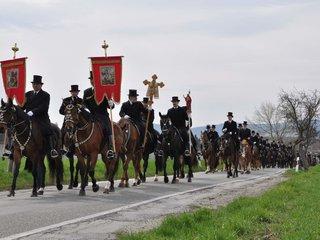 Osterreiter Prozession am Ostersonntag in Bautzen