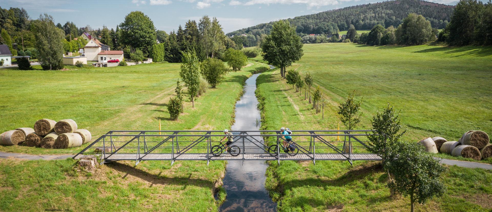 Oberlausitzer Zwillinge Zwei Räder und zwei Flüsse auf vier Radwegen