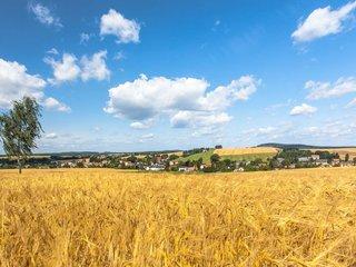 Blick auf den Ortsteil Bretnig