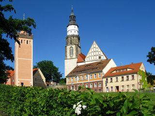 Roter Turm und Hauptkirche St. Marien