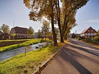 Umgebindehaeuser in Grossschoenau