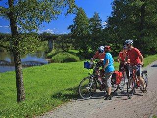Radfahren an der Neisse entlang