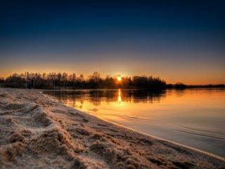 BZ Sonnenuntergang Stausee