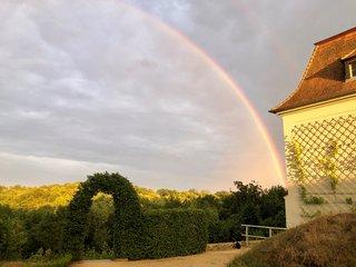 Regenbogen am Schloss Groeditz