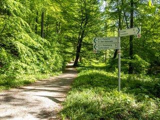Radroutenwegweiser im Seifersdorfer Tal