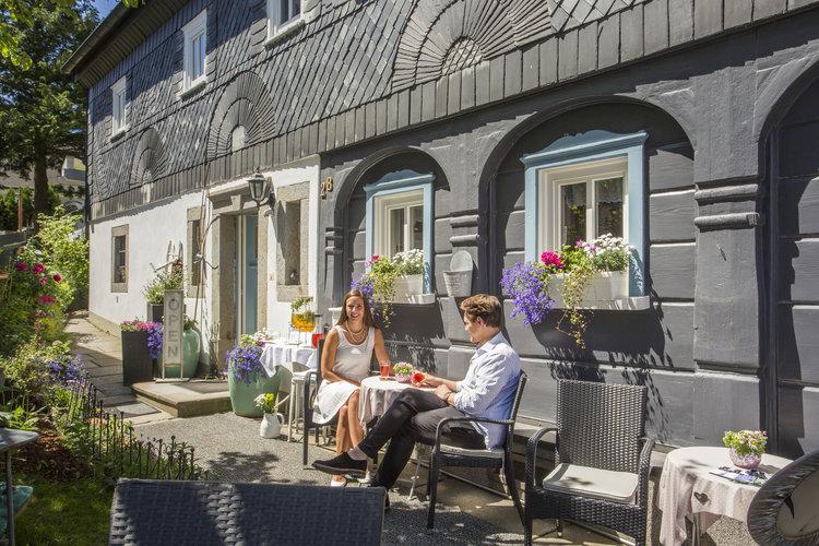 Kaffeegenuss im Umgebindehaus Haus der Sinne Fouad Vollmer Werbeagentur fuer TMGS