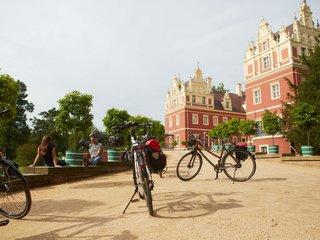 Radfahrer im Fuerst-Pueckler-Park