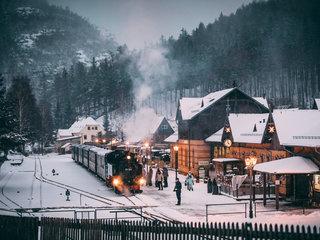 Zittauer Schmalspurbahn im Winter