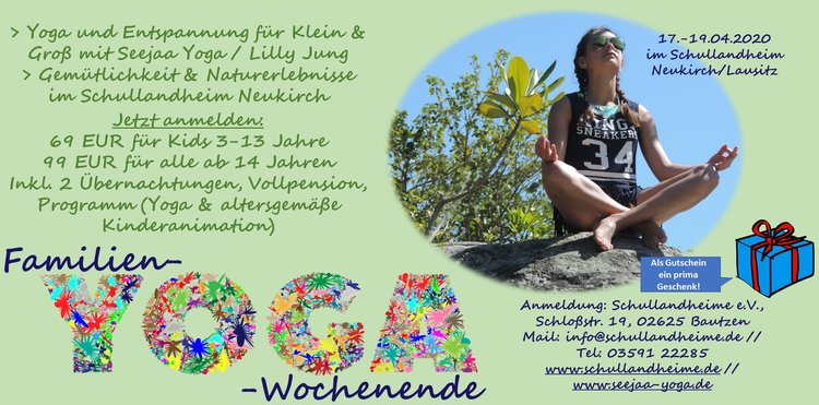 Familienyoga im Schullandheim Neukirch