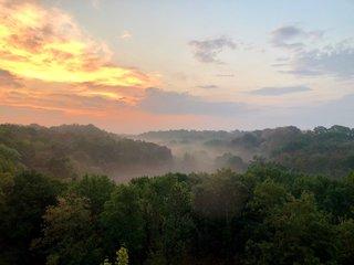 Morgennebel in der Groeditzer Skala