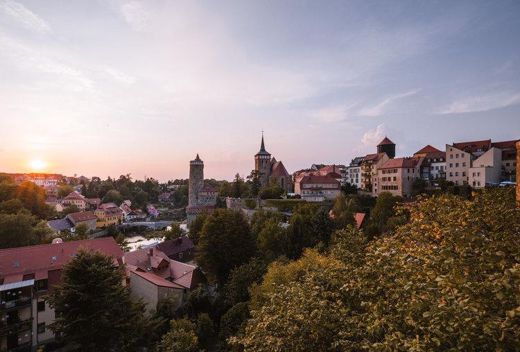 Bautzen Wasserkunst und Michaeliskirche Richard Bohn