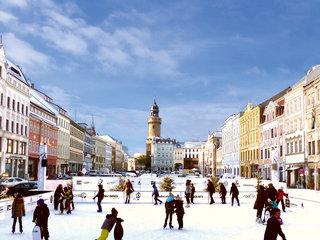 Eislaufbahn auf dem Christkindelmarkt