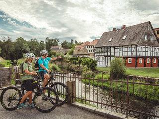 Umgebindehaus am Spreeradweg in Schirgiswalde