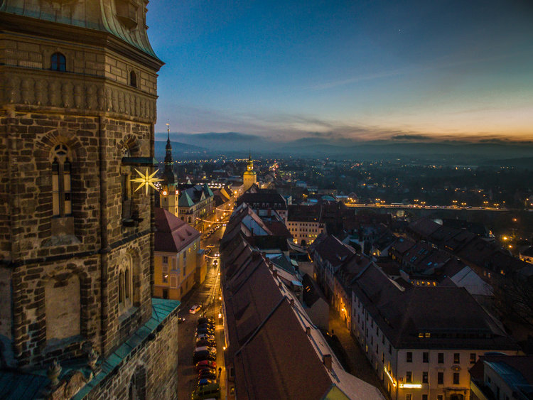 Bautzen Dom St.Petri mit Stern Peter Wilhelm