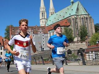 Europa Marathon Blick Dom