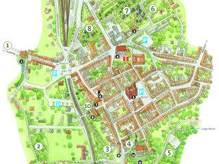 Lagekarte Gartenkulturpfad Innenstadt Kamenz