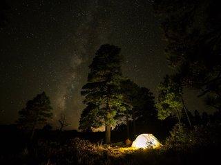 Camping unterm Sternenhimmel