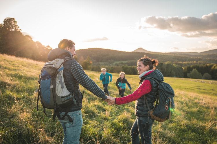 Wanderer im Naturpark Zittauer Gebirge Philipp Herfort Photography