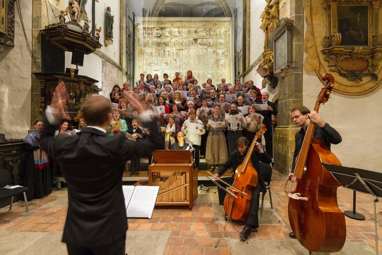 Konzert am Grossen Zittauer Fastentuch Thomas Glaubitz Stadt Zittau