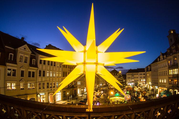Weihnachtsmarkt Zittau Stern Tobias Hoeflich