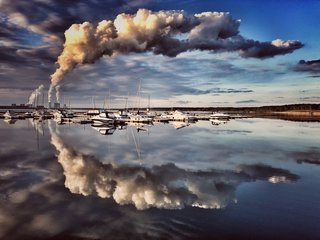 Sonnenuntergang im Lausitzer Seenland