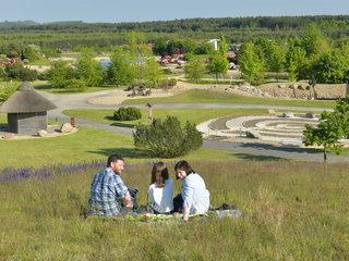 Picknick mit Sicht zu Spirale