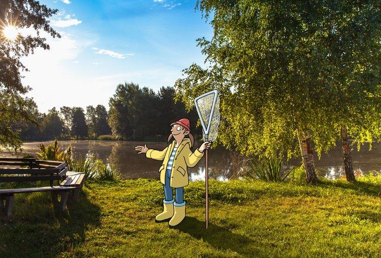 Fischers Franzi am Teich UNESCO Biosphärenreservat Heide- und Teichland_Torsten Kellerman