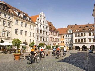 Goerlitz Stadtzentrum Radfahrergruppe