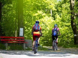 Radfahrer in der Luchsenburg
